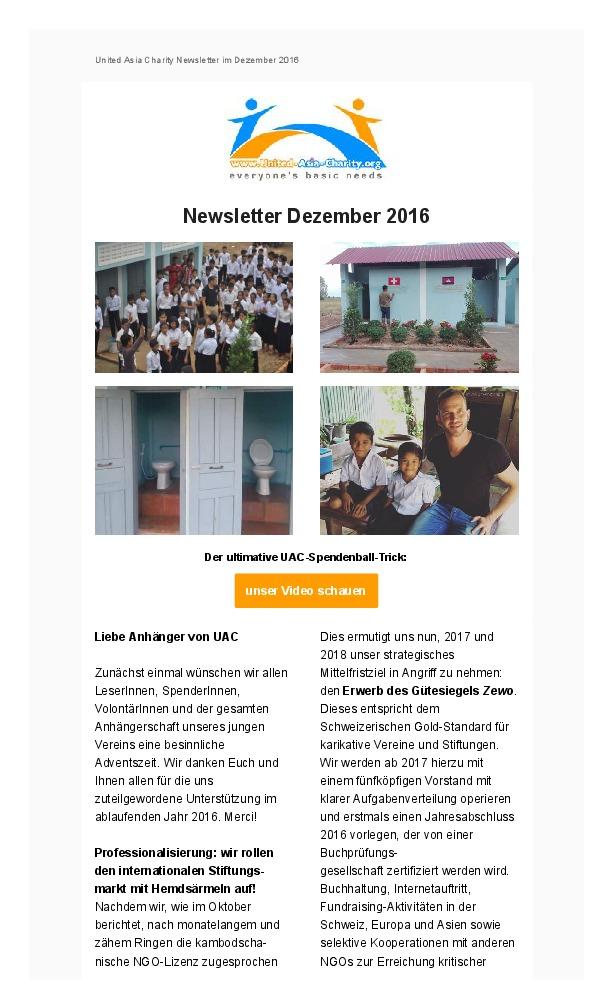 Newsletter Dezember 2016