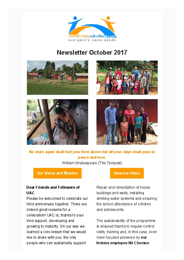 Newsletter October 2017