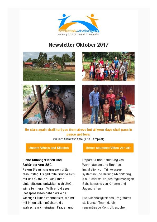 Newsletter Oktober 2017